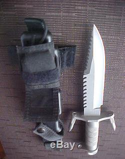 184 Pat Pending BUCK SURVIVAL KNIFE Bowie Hunting Camping Fighting Combat EXC+