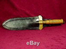 1880's Indian Wars U. S. HUNTING KNIFE 3rd Type & SCABBARD