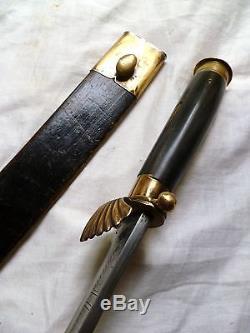 1919 Antique Golok Knife Java Dutch East India Bowie Moro Hunting Sword Axe Kris