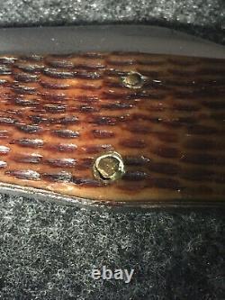 1920-40 Beautiful Greenbone CASE TESTED 61050 SWELL-CENTER HUNTING KNIFE COKE