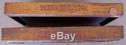 1920's 1930's WINCHESTER CUTLERY 2 oak pocket hunting knife display trays