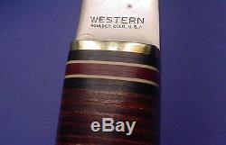 1950's Vintage WESTERN BOULDER COLO USA Hunting Knife & Hatchet Combo Set & Case