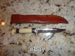 1950'sWESTERNWHITE DELRIN HUNTING KNIFE SHEATH