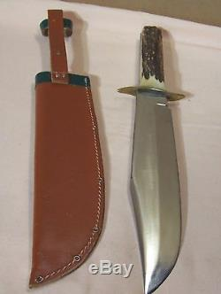 1950sK. TRAGBARBOWIESOLINGEN GERMANYHUNTING KNIFE withORIG. SHEATH & 10 BLADE