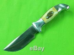 1956-58 Custom Hand Made R. H. RUANA Large S Marked Skinner Hunting Knife Sheath