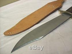 1960'sWESTERNBOULDER, COLO. BOWIERAZOR SHARP HUNTING KNIFE withORIGINAL SHEATH