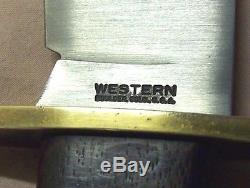1960'sWESTERNBOULDER, COLO. BOWIERAZOR SHARP HUNTING KNIFE withORIGINAL SHEATH