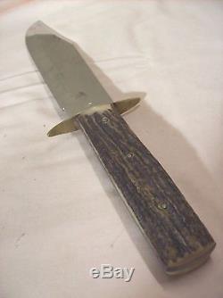 1960sEDGE MARKBOWIESOLINGEN GERMANYSTAG HORN VINTAGE HUNTING KNIFE10 BLADE