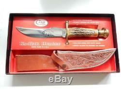 1973-1977 CASE XX, KODIAK STAG HANDLE KNIFE, WithSHEATH IN BOX #Y285