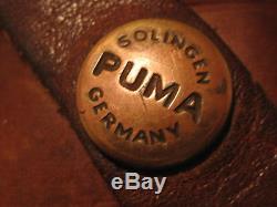 1976 PUMA 6377 HANDMADE WHITE HUNTER BONE HANDLE HUNTING KNIFE WithSHEATH-3 DAY NR