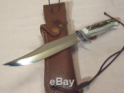 2000PUMAORIGINAL BOWIE116396STAG HORN HUNTING KNIFE withORIG. SHEATHexcellent
