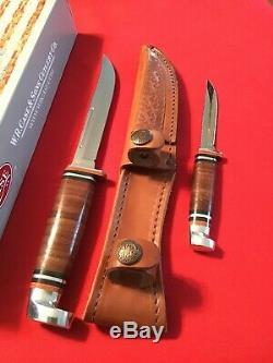 4-10 Case XX USA #00372 Twin Finn 316-5 Classic 2 Hunting Knife Set