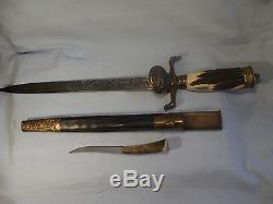 5. Rare German imperial hunting dagger knife sword scabbard WEYERSBERG SOLINGEN