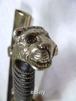 Antique Hunting Sword German Silver Bavaria Austrian Prussian Hanger Sabre Knife