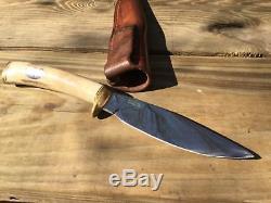 Alaska Custom Hand Made IRVIN CAMPBELL Hunting Fighting Knife Rare Stamp IRBI