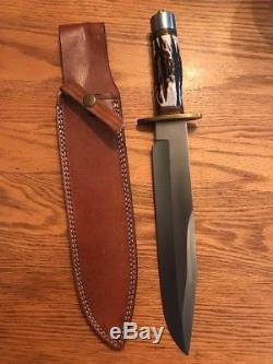 Andre Ronald Custom Handmade Bowie Survival Hunting Knife WithSheath D2 Steel