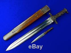 Antique 19 C French France Hunting Dagger German Blade Knife Figural Handle