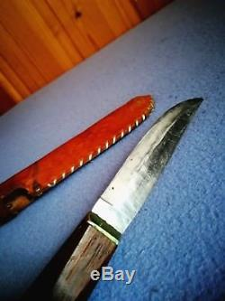 Antique 1932 First Helle Knife Norwegian Hunting Norway Viking WithSheath Vintage