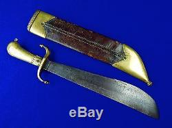 Antique German Germany 18 Century Hunting Knife Short Sword with Scabbard