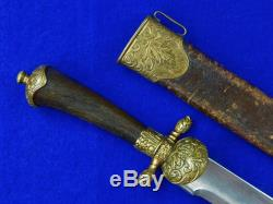 Antique German Germany French France 18 Century Hunting Dagger Knife with Scabbard