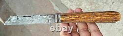 Antique Joseph Rodgers & Sons Hunting Knife-to Strike Fire-stag Handle, Sheffield