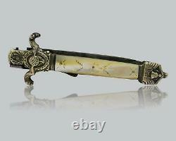 Antique Louvetier Chatellerault French Folding Dirk Knife Couteau Navaja