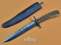 Antique Old English British 19 Century Hunting Knife with Sheath