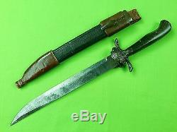 Antique Old France French 19 Century Hunting Knife Dagger with Scabbard