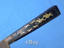 Antique Old German Germany ZELLER VILLINGER Huge Hunting Fighting Knife