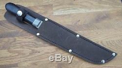 Antique Pewter Trade Camp Butcher Knife Razor sharp Carbon steel Vintage LAMSON