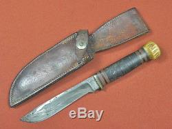 Antique RARE MARBLES Gladstone M. S. A. Co. MSA Hunting Fighting Knife with Sheath