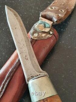 Antique Silver PUUKKO Hunting knife B. N. 1927