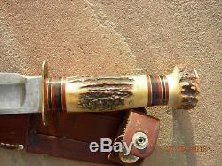 Antique Vintage Marbles 12 Hunting Butcher Knife
