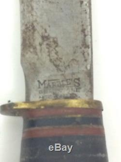 Antique Vintage Marbles Gladstone Michigan Tool Fishing Hunting Knife RARE
