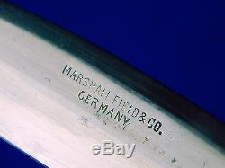Antique Vintage Old German Germany Marshall Field Hunting Dagger Knife Scabbard