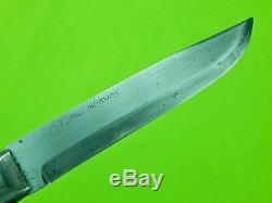 Antique Vintage Old Scandinavian M. Dahl Norway Norwegian Hunting Knife Scabbard