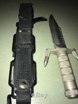 Authentic Buck 184 Buckmaster Knife with Sheath Pouch & Spikes 1984 RARE