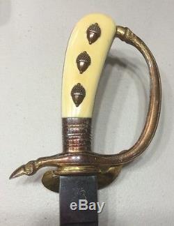 Authentic German Imperial Hunting Cutlass Dagger Sword Knife Solingen Erickhorn