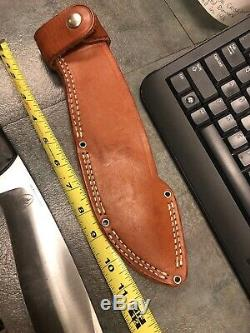 BARK RIVER1ST PRODUCTIONCONVEX BOWIE HUNTING & FIGHTING KNIFE withSHEATH