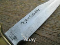 BEAUTIFUL Old Guttman Edge Brand Germany Stag-Handle Carbon Steel Bowie Knife