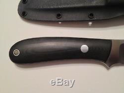 BOB DOZIER ARKANSAS MADE KNIVES Model K-16 Yukon Pro Skinner Knife Kydex Sheath