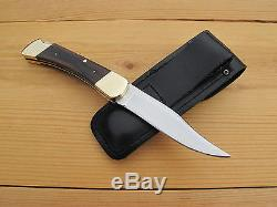 BUCK 110 HUNTING KNIFE, 3rd VERSION 8th VARIATION, 1968-70, 440C, SHEATH, USA