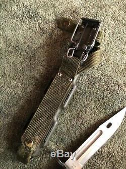 BUCK KNIFE PHROBIS III U. S. A. M9 BAYONET with Sheath