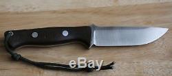Bark River Bravo LT 3V Fixed Blade Knife 3V Blade Green Micarta Handle