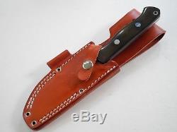 Bark River Knife Bravo 1 Green Linen Micarta includes original leather sheath