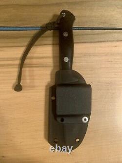 Bark River Knives Bravo-1, Black Canvas Micarta, A2 Tool Steel, Kydex Sheath