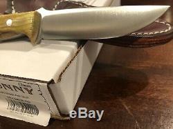 Bark River Knives Gunny, Elmax, Gold Black Ash Burl