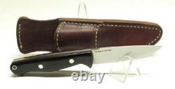 Bark River Knives Gunny Hunter Jimped, CPM 3V, Black Canvas, Red Liner, 1st Rn