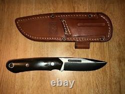 Bark River Knives, Springbok, CPM3V, Green Micarta, Leather Sheath withFire Loop