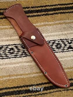 Bark River Knives Teddy II A-2 Stacked Leather, Historical Series, Bowie Hunting